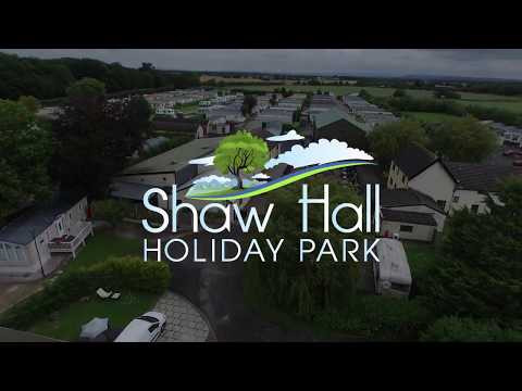 Aerial view of Shaw Hall Holiday Park